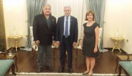 THE VISIT OF CHAMBER OF ARCHITECTS TURKER AKTAC TO THE PRESIDENT MR. MUSTAFA AKINCI
